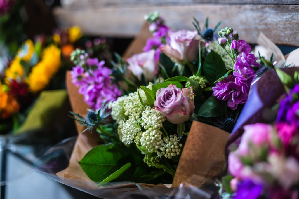 Anemone florists hand-tied bouquets in Milsom Place