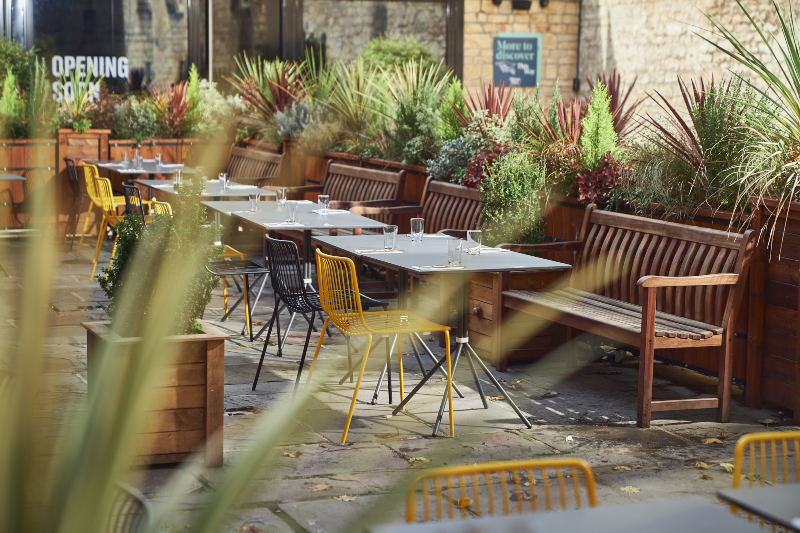 Bandook Indian Kitchen_terrace_Milsom Place