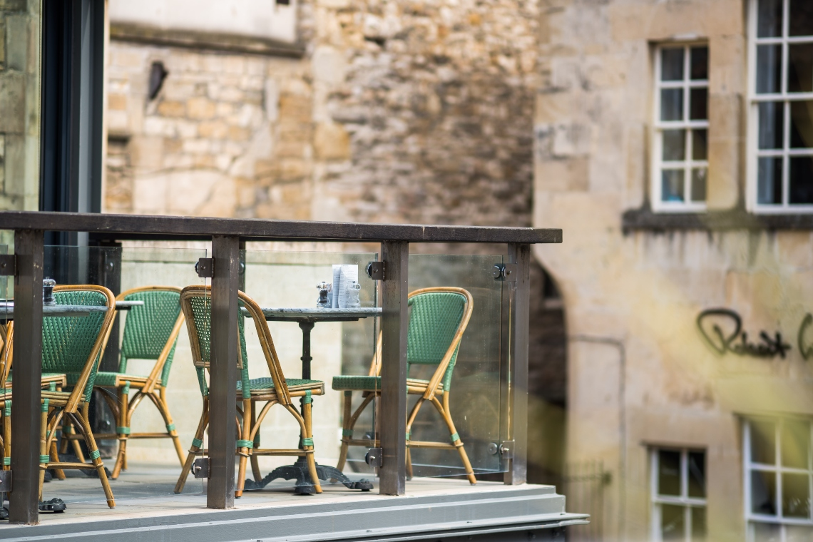 Cote Brasserie balcony at Milsom Place