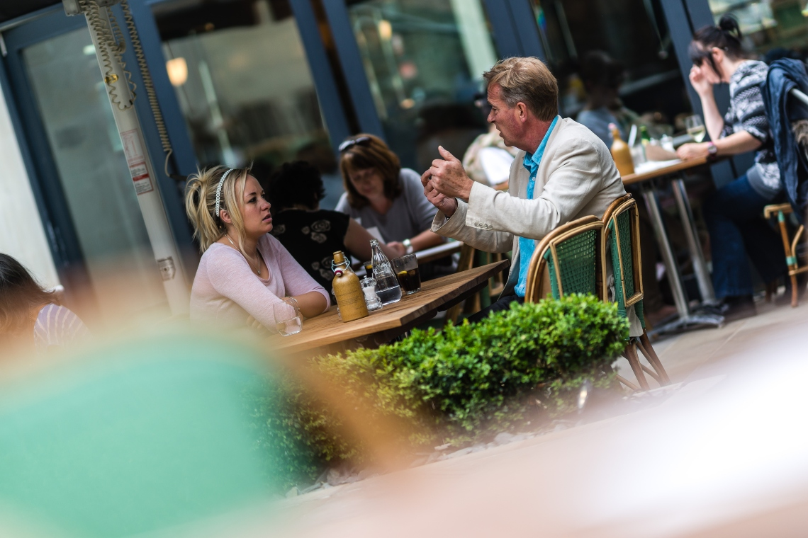 Cote Brasserie terrace at Milsom Place
