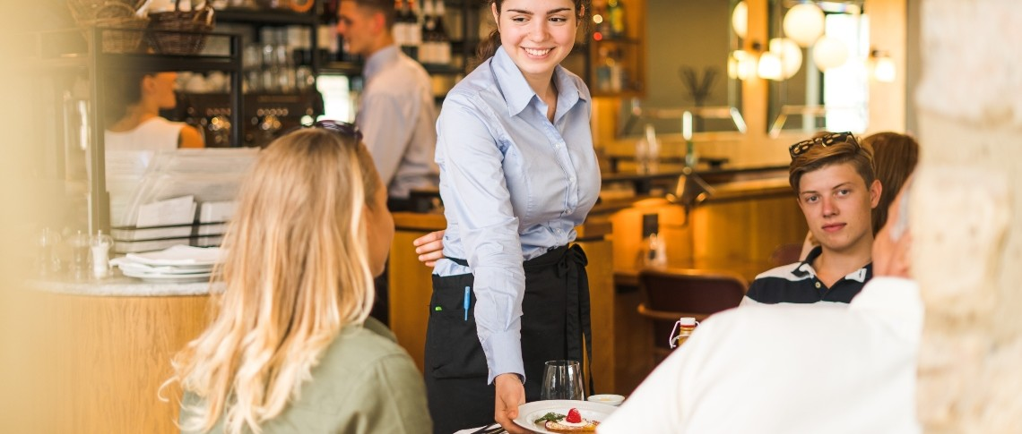 Cote Brasserie waitress in Milsom Place