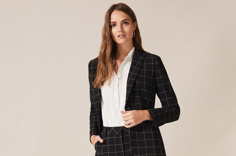 Phase Eight AW19 suit in Milsom Place