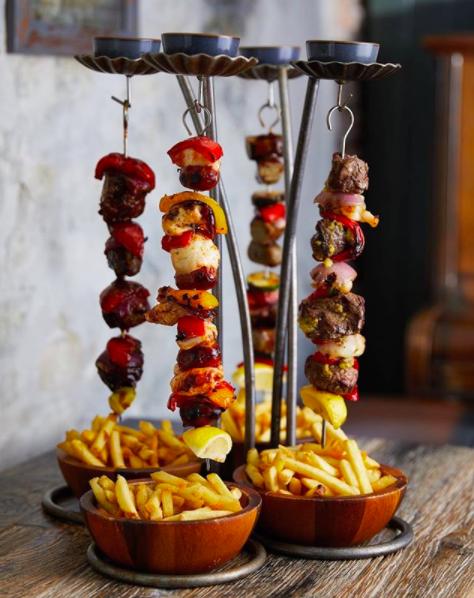 The Botanist Bath hanging kebabs