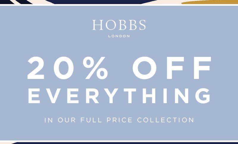 Hobbs | 20% off everything!